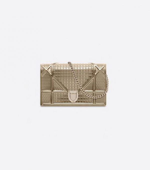 Dior-Diorama-Micro-Cannage-Chain-Walle-gold