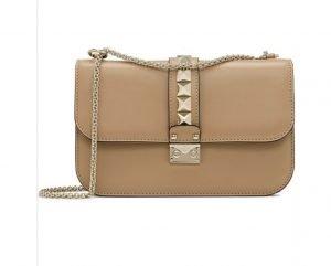 Valentino Small Leather Lock Bag
